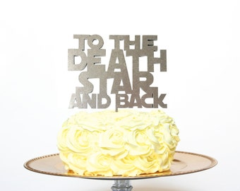 Star Wars Cake Topper, to the death star and back cake topper