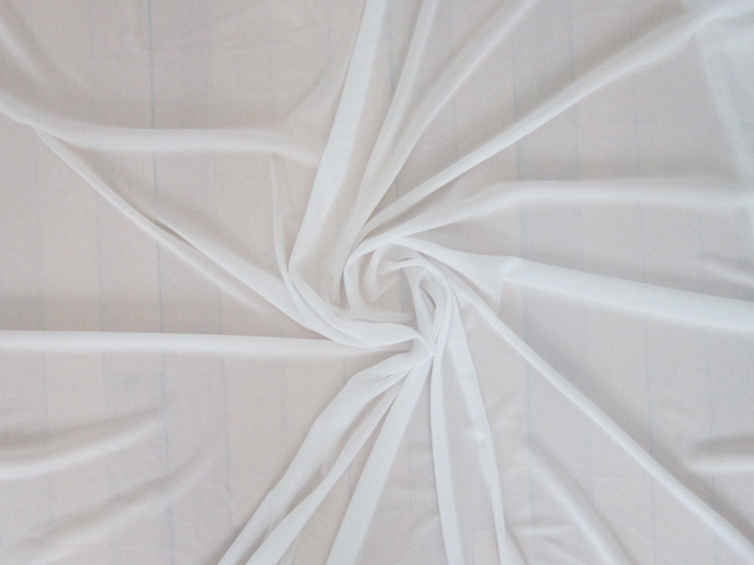 White Stretch Chiffon Fabric by the Yard White Sheer Tulle Net