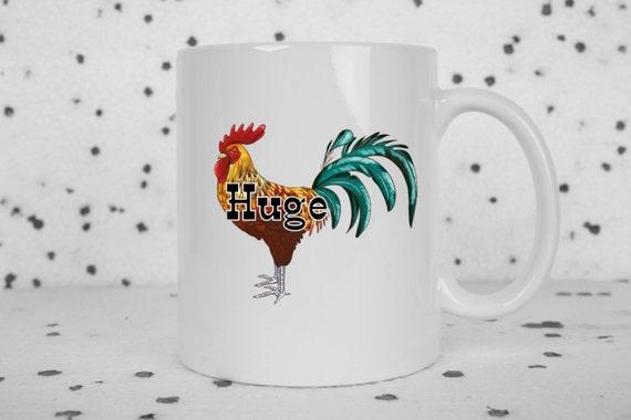 Mature funny coffee mug, huge penis, huge cock, rooster, coffee mug, adult humor mug, coffee cup, gifts for him, rude mugs, funny gifts
