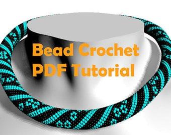 Bead crochet PATTERN / bead crochet tutorial / beading pattern / bead pattern / necklace tutorial / жгут из бисера схема / beading tutorial