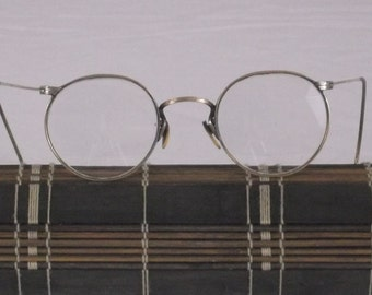Vintage 1940's Womens Metal Gold Fill round Wire Rim With Eyeglasses Bifocal TP 1012 KGF  PF7 ST V