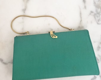 1960s Turqouise Clutch Purse