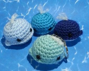 Crochet Baby Whale Keychain