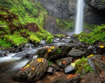 Latroull Falls Columbia River Gorge Oregon