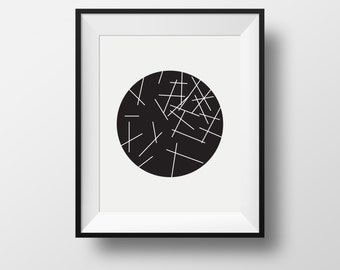 Minimalist Art, Geometric Prints, print black and white, Contemporary Art, black and white prints, wall print
