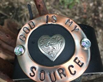 God Is My Source Cuff Bracelet