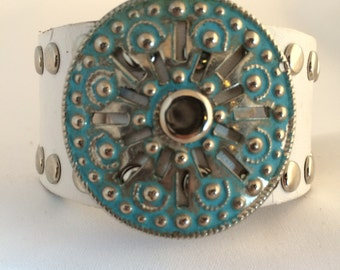 Turquoise & White Cuff