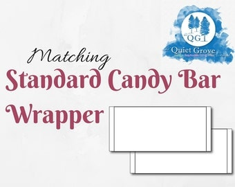 Matching STANDARD CANDYBAR WRAPPER - A La Carte or Add on to any design in shop
