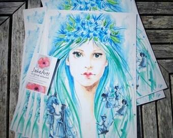 Titania Fairy Queen fantasy art digital print fantasy fairy art