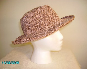 Various Browns hand-crocheted 100% Cotton Hat