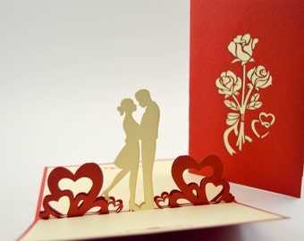 Pop Up Card - Anniversary Card - Love Card - Good Greeting Card - I Love You Card - Valentines Day Card-3d Proposal Card- 3d Pop Up Card