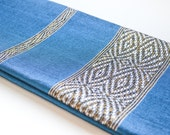 Hand-made in Ethiopia: The Azeb scarf in Deep Blue
