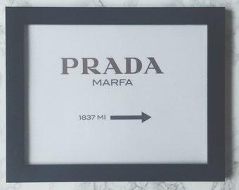 Prada Marfa gold print - made in LA