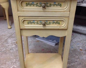 Original French Bedside Cabinet with drawers