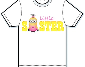 Minions Little Sister Personalized sibling shirt