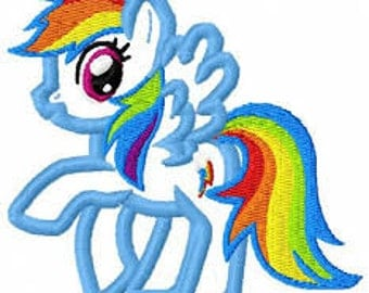 Rainbow Dash Applique