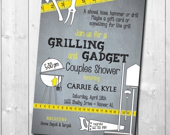 Grilling and Gadget Shower Invitation/Honey Do Shower Invitation/printable,digital,tool shower, garden, handyman/wording can be changed