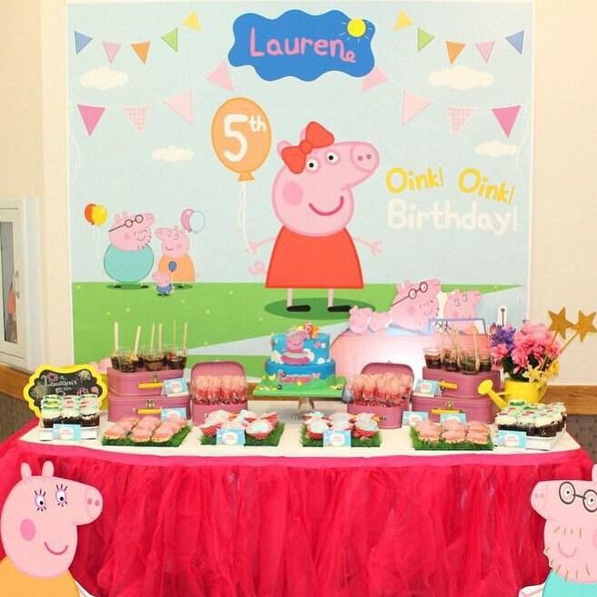 Peppa Pig Banner Peppa Pig Birthday Banner By: Peppa Pig Birthday Peppa Pig Backdrop Peppa Pig Banner