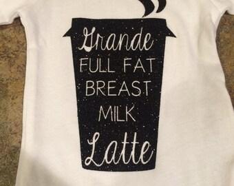 Grande Breast Milk Latte Onesie