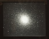 Antique Globular Star Cluster Glass Magic Lantern Slide
