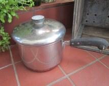 Revere Ware Copper Clad Sauce Pan Vintage 1950's 3 qt Cookware Lidded Pot #2609 - Kit052
