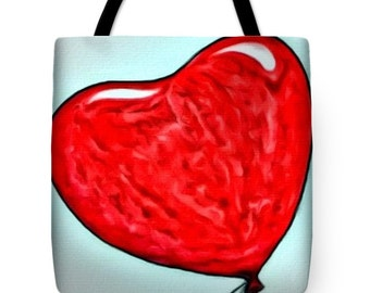 Painted Heart...Tote Bag by artist MPL