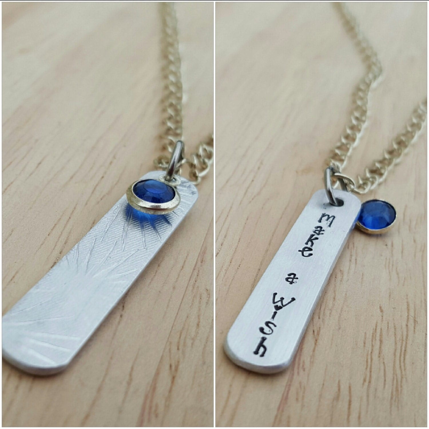 Hand stamped make a wish necklace inspirational jewellery for How do you make hand stamped jewelry