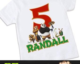 Kung Fu Panda 3 birthday Tshirt Shirt