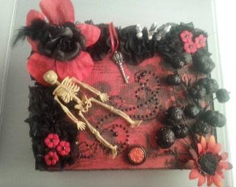 Macabre gothic altered cigar box