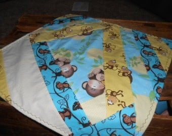 Monkey Snuggly Baby Blanket