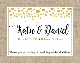 "4"" x 3""  Personalized Welcome Box Labels -  30 Wedding Welcome Bag Labels - Wedding Favor Labels - Welcome Stickers - Box Stickers - Gold"
