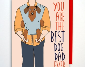 Funny Valentines Day Card, Valentine Card, Dog Dad Card, Father's Day Card, Funny Dog Card, Love Card, Valentine Card, Card from Dog