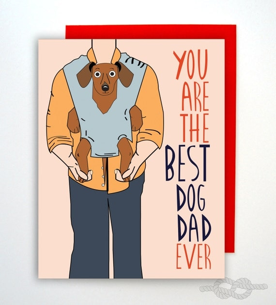 Funny Valentines Day Card Valentine Card Dog Dad Card – Valentines Card for Dad