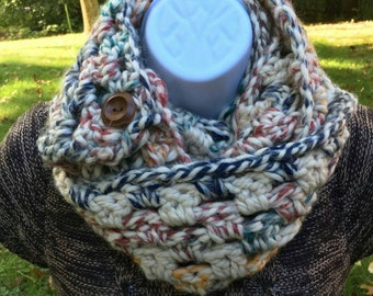 CLEARANCE - Womens Infinity knit scarf, crochet scarf, Winter Scarf, chunky scarf daughter gift, mother gift, women's Christmas gift,