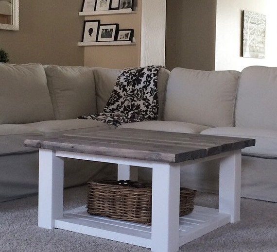 square farmhouse coffee table by sweetnettajean on etsy