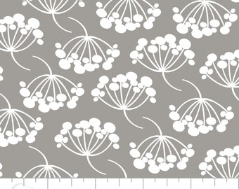 Floral Cotton Fabric on Grey, Quilting and Patchwork Fabric - Fat Quarter