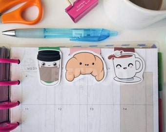 Cute Coffee Bookmark Set