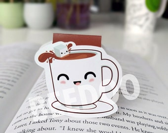 Cute Cup of Coffee Magnetic Bookmark