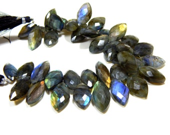 Labradorite Faceted Beads Marquise Shape 9x10 To 17x20.mm Approx New Arrival Superb Quality Wholesale Price