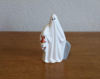 Ceramic Ghost with Copper Lantern (#721)