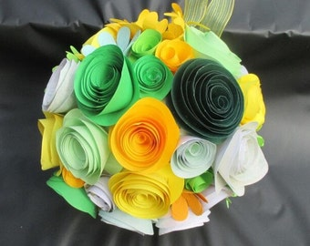 Paper Flower Kissing Ball (20cm diameter)