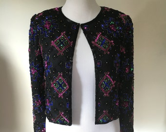 SALE Stenay Deadstock Beaded Jacket Sequined Small Original Tags 80s