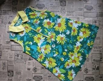 Toddler girl dress, vintage dress kids, girls dress, vintage childs dress, girls summer dress, child's sun dress, girl's summer dress