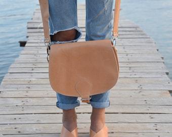 Cross Body Bag, Saddle Bag, Leather Bag, Women bag, Leather Handbag, Crossbody Women's Bag. Leather Purse, Multiple Colors. Adjustable strap