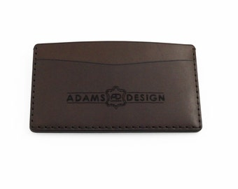 Dark Brown Leather Card Wallet