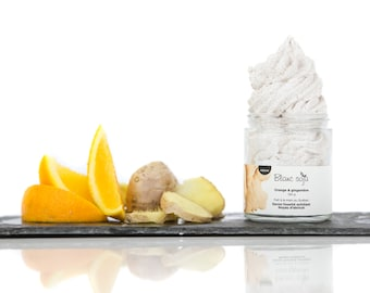 Orange, ginger and apricot kernel, exfoliating whipped SOAP