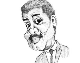 custom caricature personalised caricature from photo hand drawn cartoon fun unique present