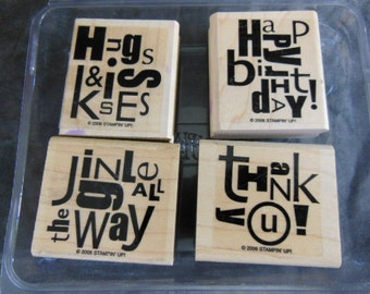 Stampin Up Alphabet Soup Rubber Stamps