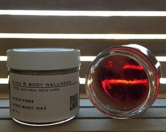 100% Natural Hard Sugar Wax - Strip-Free Face and Body Wax