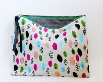 Large zipper pouch, Raining leaves